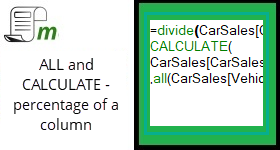 ALL() and CALCULATE() – Percentage of a column