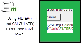 FILTER and CALCULATE – Removing pre-calculated totals.