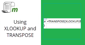 Using XLOOKUP and TRANSPOSE