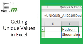 3 different ways to get unique values in Excel