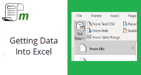 Import Data into Excel – Multiple Methods