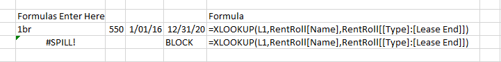 XLOOKUP can create a dynamic array and can trigger a SPILL error!